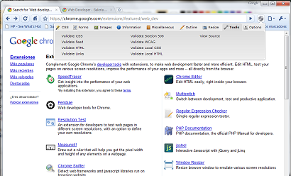 Nuevas extensiones de Google Chrome para desarrolladores web