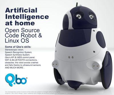 Qbo: robot de código abierto para el hogar