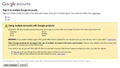 Google permitirá login de múltiples cuentas