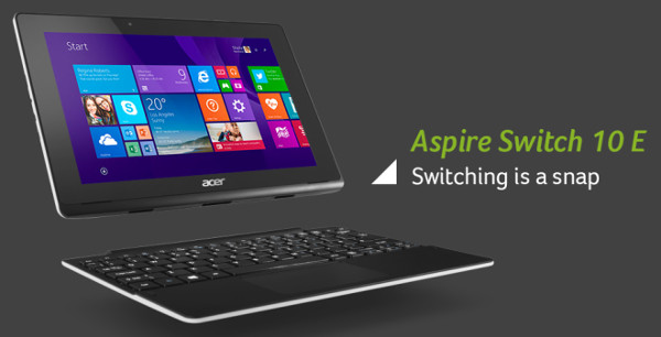 ACER Aspire Switch 10 E, portátil y tablet en uno